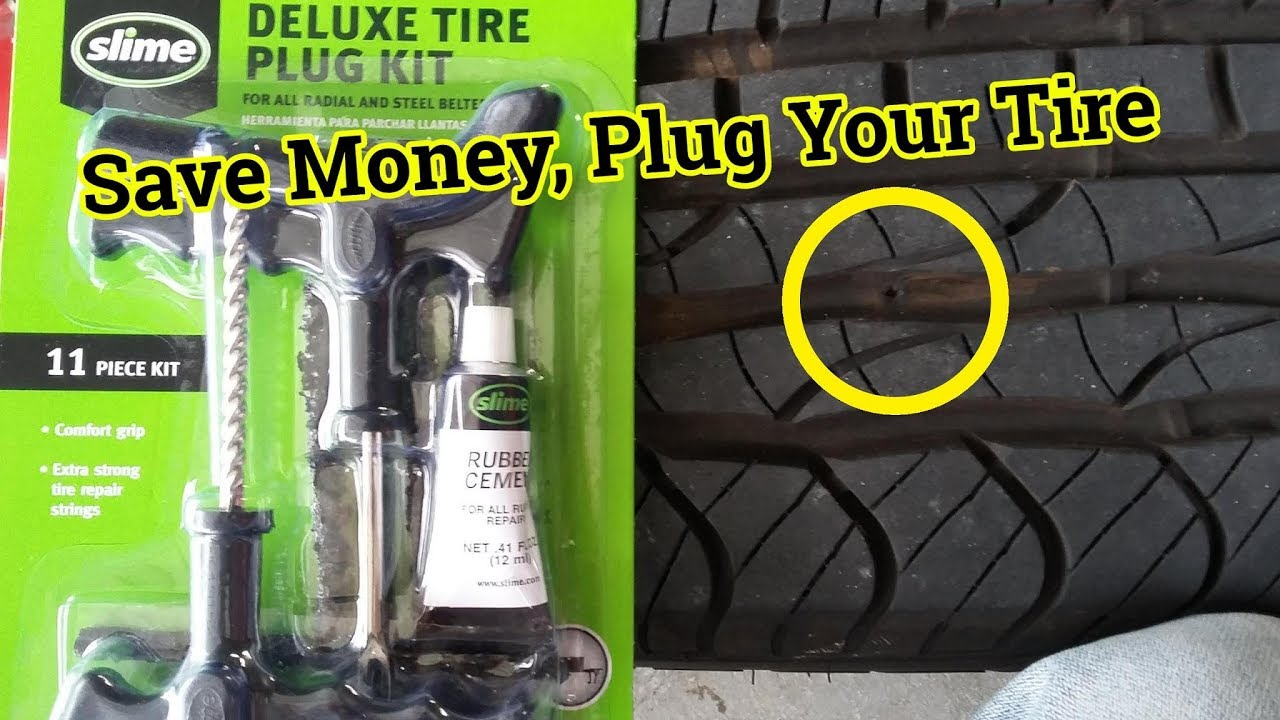 How To Plug Your Tire - Tire Repair - Tire Got Punctured
