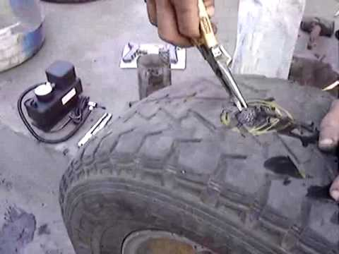 HOW  TO REPAIR TUBELESS TYRE  PUNCTURE (Demo)