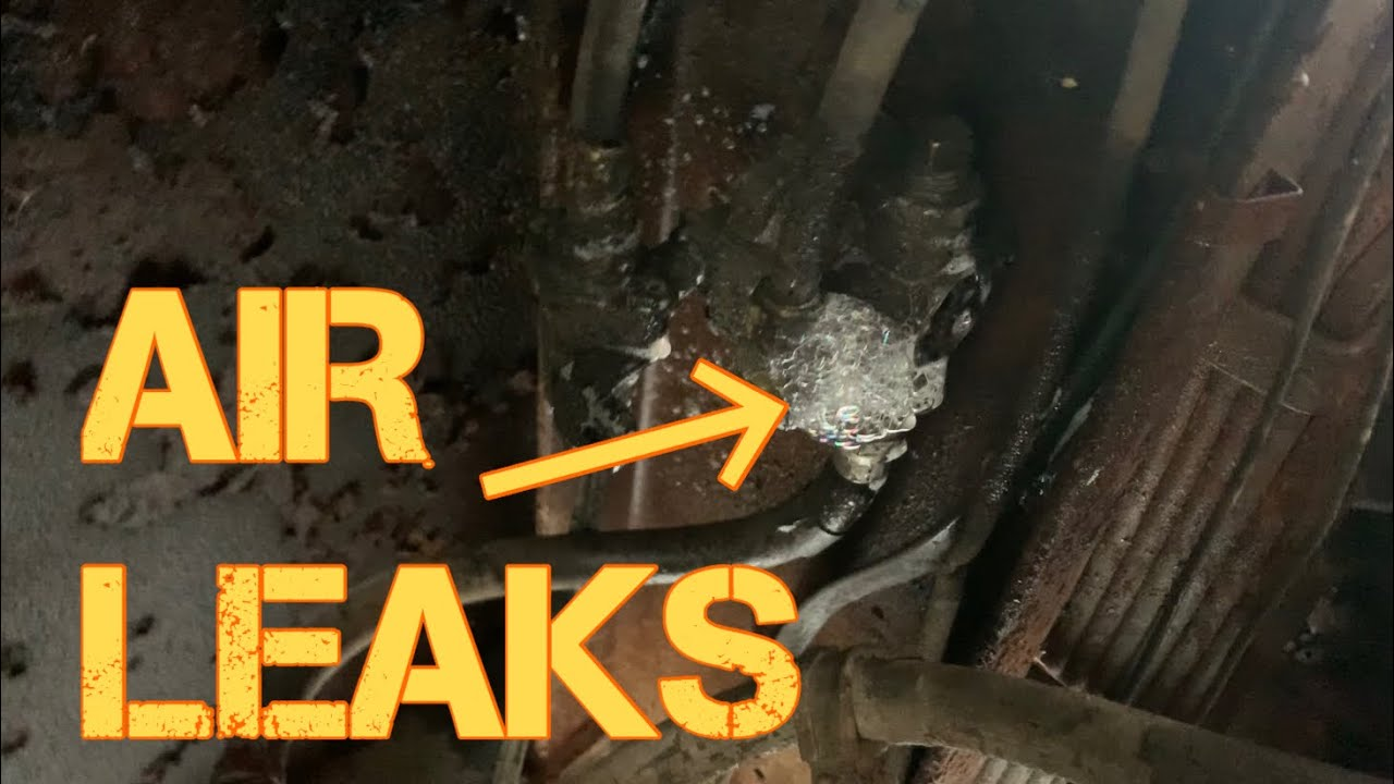 Checking the 1976 Detroit Diesel Firetruck for Air Leaks