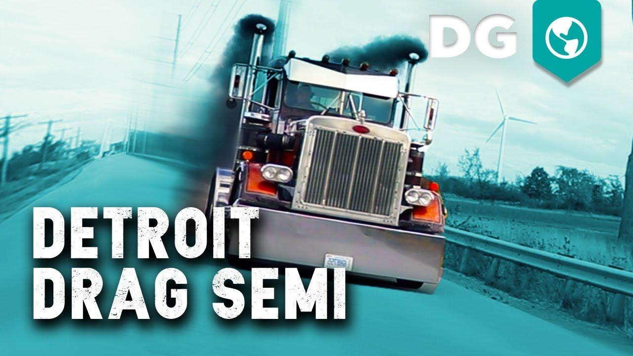 2-Stroke Detroit 8V92 Peterbilt 16sec Drag Semi Truck