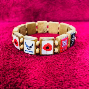 KHF Patriotic Wristbands Poppies