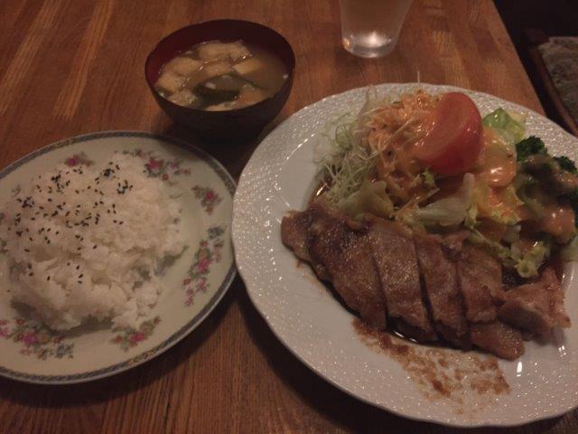 豚ロース生姜焼き定食