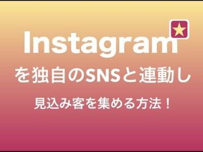 インスタグラムを独自のSNSと連動し見込み客を集める方法!
