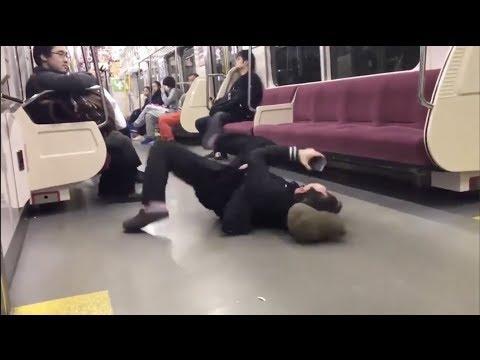【Twitter話題】最新炎上動画まとめ (電車篇)キチガイババア、発狂