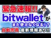 【FX】緊急速報!!!bitwalletがまた使えなくなる!?!?気になる自動売買の最新情報あり!!!まさかの損切りするのか…..!?!?