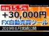 FX自動売買ツール実績公開【2019.6】~月利15.5%1ヶ月で+30000円~