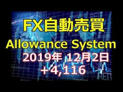 12月スタートです!今月もしっかり稼ぎます!FX自動売買ツール【アローワンスシステム