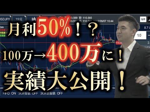 【9ヶ月の実績!】月利50%!? 100万が約400万に!?FX自動売買【システムA】