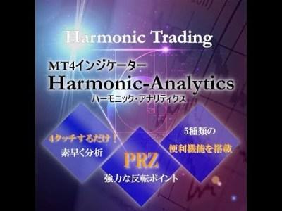 ハーモニックパターンMT4インジケーター!たった4クリックでPRZを分析する!