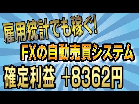 【FX自動売買】雇用統計でも稼ぐ!