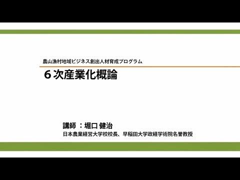6次産業化概論/講師:堀口健治(平成27年度農山漁村地域ビジネス創出人材育成プログラム)