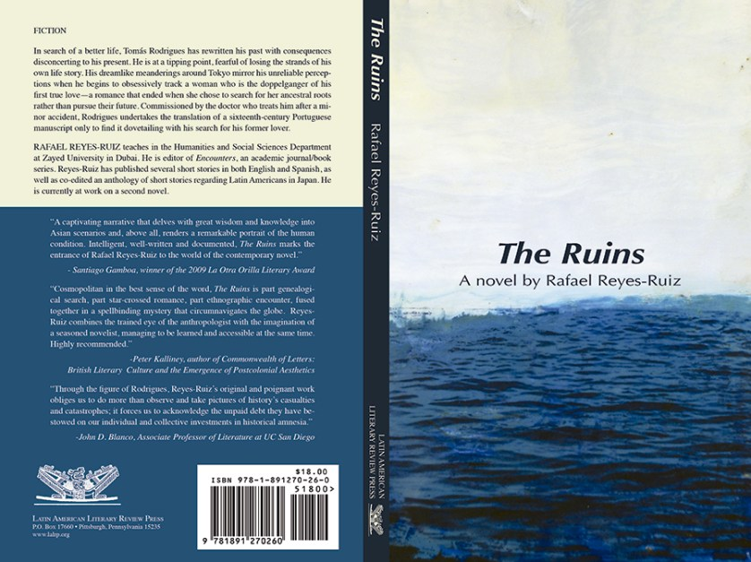 """Portada de la prmera novela de Rafael Reyes-Ruiz: """"The Ruins"""""""