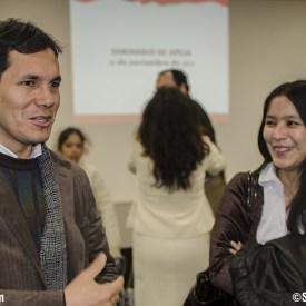 Sebastian Heredia y más atrás Roxana Okuma