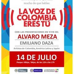 Fiesta de Independencia de Colombia en Hibiya Park, Tokio