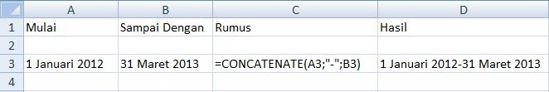 concatenate date