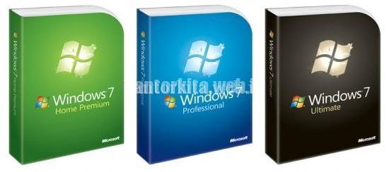 Perbedaan Windows 7 Starter, Home, Professional, dan Ultimate