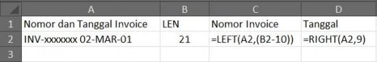 Cara Cepat Memecah Nomor Dokumen dan Tanggal di Excel