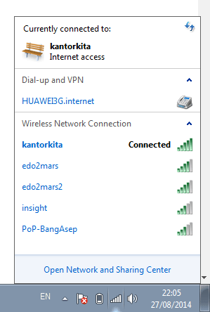 Mengetahui Password Wifi yang Sudah Terhubung di Windows
