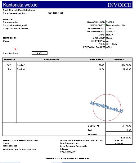 invoice, buat invoice