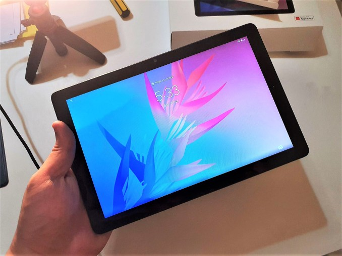 The Matepad T10 9.7 inch screen