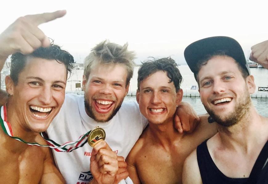 Kanu-Polo Spieler aus Deutschland gewinnen italienische Meisterschaft