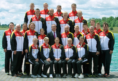 Die Kanu-Rennsport Nationalmannschaft vor der EM