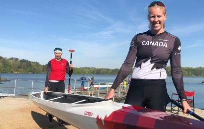 Kanadische Canadier Frauen paddeln Weltrekord
