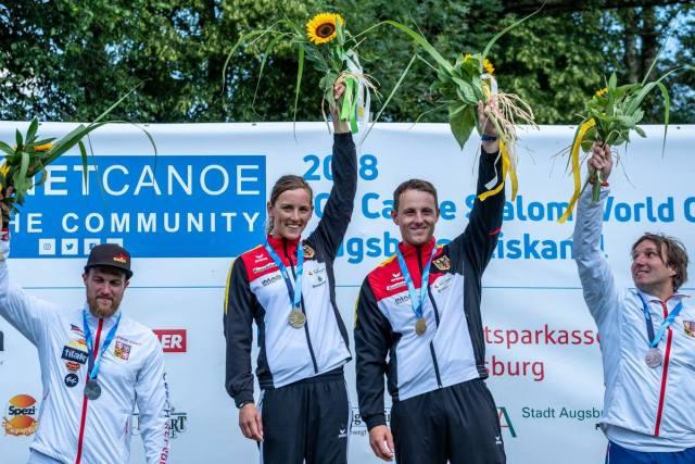 Kanu-Slalom-Gold_Mixed-Canadier-Zweier_3.Worldcup-2018-Augsburg-Jasmin-Schornberg_Thomas-Becker_Kanu-zum-Frühstück