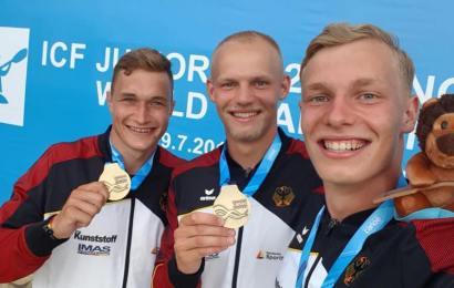 4 WM-Titel für den Kanu-Rennsport Nachwuchs des DKV