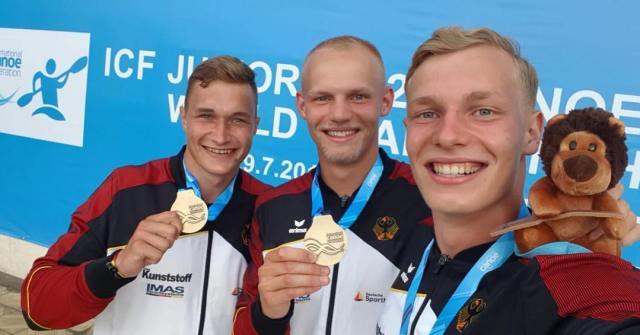 U23-Weltmeister_Conrad-Scheibner_Tim-Hecker_Moritz-Adam_Kanu-zum-Frühstück