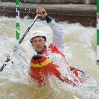 Kanu-Slalom EM: Franz Anton testet die Strecke in Ivrea