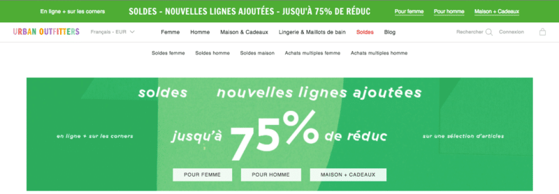 exemple urbanoutfitters soldes