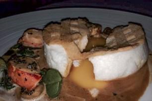 Organic Egg a la riche crayfish