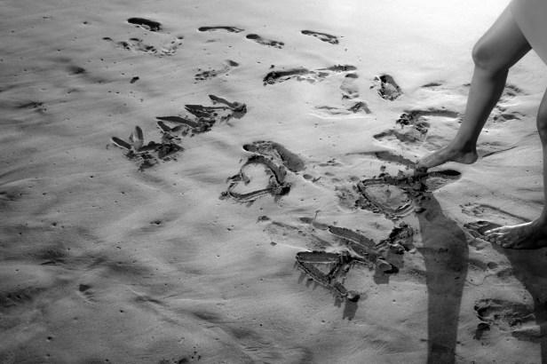 A message on the sand, Maui