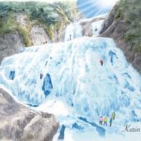 袋田の滝イラスト