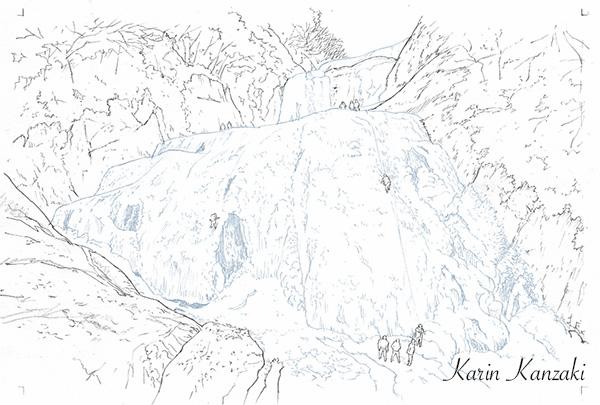 水彩風景画メイキング0