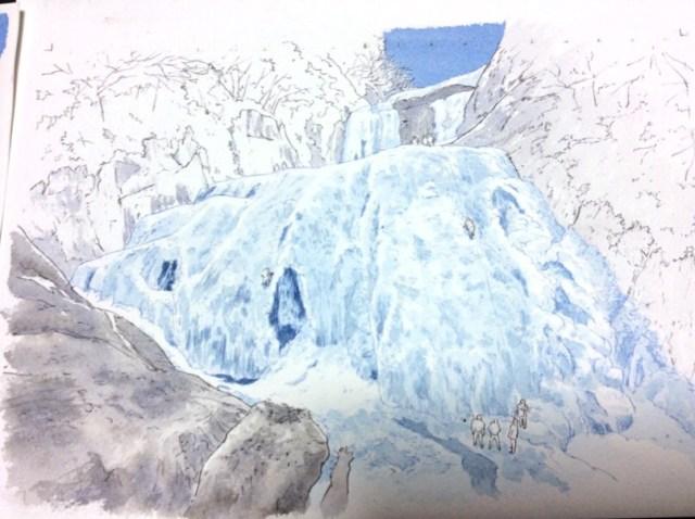 水彩風景画メイキング3