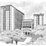 モノクロ 建築パース