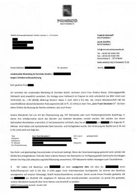 Abmahnung Urheberrechtsverletzung NIMROD Rechtsanwälte