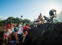 Participants gathered together to celebrate their completion of the 2015 Makahiki Challege –  Makahikichallenge.com