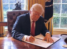 Trump signs the revised Executive Order 13780 in the Oval Office - Wikimedia Commons