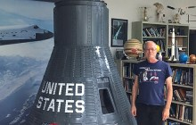 Student creator Rodger Garrett shows off his Friendship 7 replica – Courtesy of Dineene OʻConnor