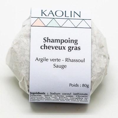 Shampoing solide cheveux gras zéro déchet naturel écologique