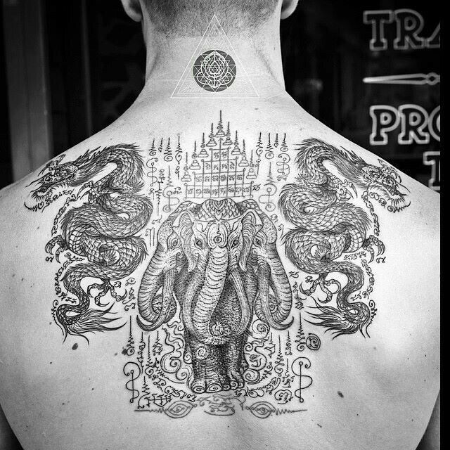 tattoo tatouage thai elephant