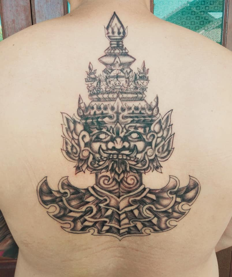 tattoo tatouage thai gardien du temple