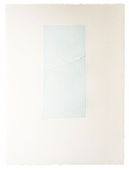 Epigraph-Sky III・碑文-淡空 III Etching・Aquatint・BFK Rives エッチング・アクアチント・BFK紙 image size H38.5cmxW18cm ed.12 2016