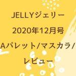 JELLYジェリー2020年12月号EMODAパレット/マスカラ/ブラシレビュー