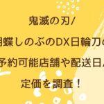 鬼滅の刃/胡蝶しのぶのDX日輪刀の予約可能店舗や配送日/定価を調査!