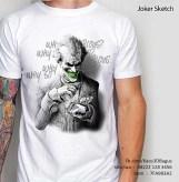 KAOS JOKER PUTIH 3D, Sketsa Joker