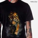 Kaos HARIMAU 3D, Walking Tiger 3D